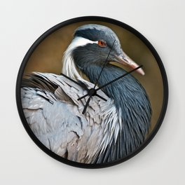Demoiselle Crane Wall Clock