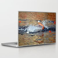 swimming Laptop & iPad Skins featuring swimming by  Agostino Lo Coco