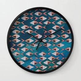 School of Fish Pattern Wall Clock
