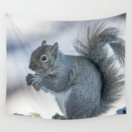 Winter squirrel Wall Tapestry