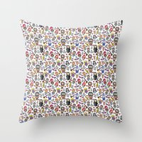 potter Throw Pillows featuring Wizards by Hello Quirky