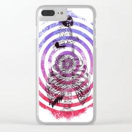 Skeleton Bullseye Clear iPhone Case
