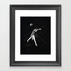 Human Satellite Framed Art Print