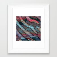 agate Framed Art Prints featuring Agate by RingWaveArt