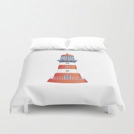 nautical lighthouse Duvet Cover