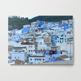 The Blue Pearl - Chefchaouen, Morocco  Metal Print