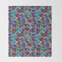 Oil Sick Rainbow Aura Crystals Throw Blanket
