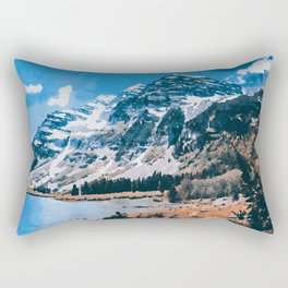 The Wonderful Maroon Bells Rectangular Pillow