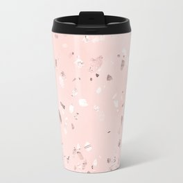 Rosegold Blush Terrazzo Travel Mug