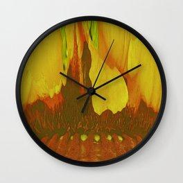261 - Abstract inside flower design Wall Clock