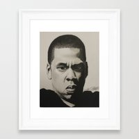 jay z Framed Art Prints featuring Jay Z by Leonidas The King