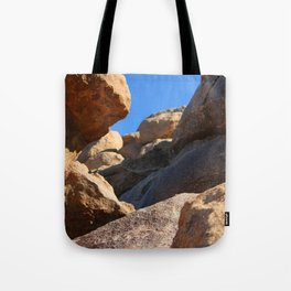 Climbing Rockfalls Tote Bag