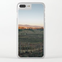 Italian countryside at dusk Clear iPhone Case