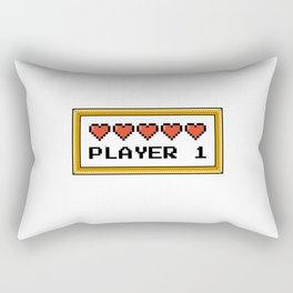Player 1 Rectangular Pillow