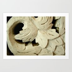 Carved Wood Art Print
