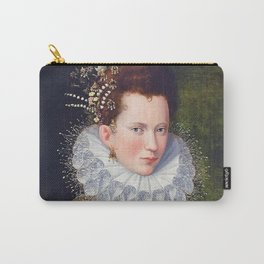 Portrait of Court Lady with Dog by Lavinia Fontana Carry-All Pouch