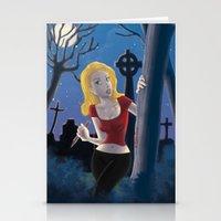 buffy Stationery Cards featuring Buffy by TeeNa Stone
