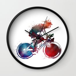 cyclist 2 #sport #cyclist Wall Clock