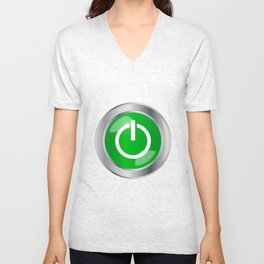 Engine Start Button Unisex V-Neck