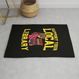 Librarian - Support Your Local Library Rug