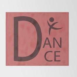 Red Dance Symbol Throw Blanket