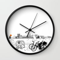 copenhagen Wall Clocks featuring Copenhagen by sarknoem