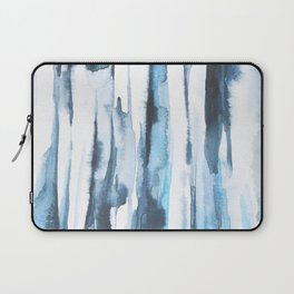 Blue Ice Watercolor Laptop Sleeve