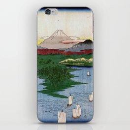 Noge and Yokohama by Hiroshige iPhone Skin