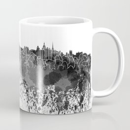 Edinburgh skyline in black watercolor Coffee Mug