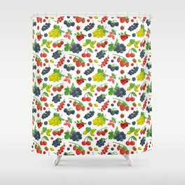 Colorful Berries Pattern Shower Curtain