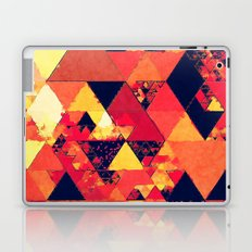 Pure fire- Red yellow black abstract Triangle pattern- Watercolor Illustration Laptop & iPad Skin