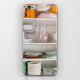 Kitchen storage in shelves front view iPhone Skin