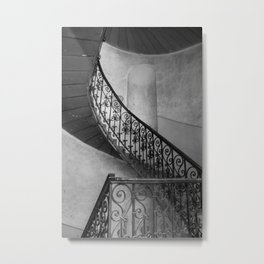 Stairway In Black And White Metal Print