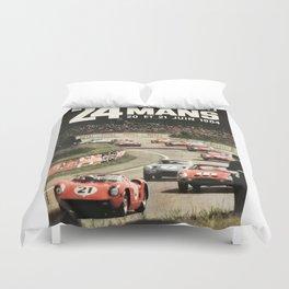 Le Mans poster, 1964, 24hs Le Mans, original vintage poster Duvet Cover