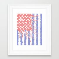 introvert Framed Art Prints featuring DRENCH.american introvert by instantgaram