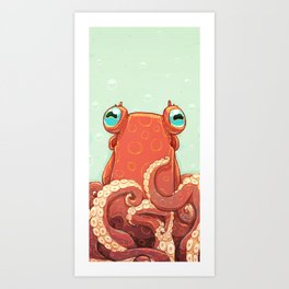 Goldie the Octopus Art Print
