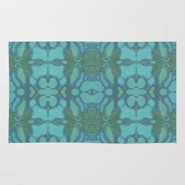 Evergreen and Aqua Nouveau Pattern Rug