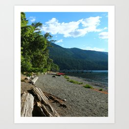 Lake Cresent Shore Art Print