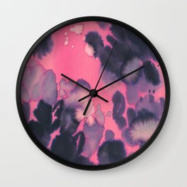 watercolor waves COLLAB DYLAN SILVA Wall Clock