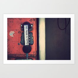 Wiretap Art Print