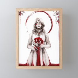 Blood for the Blood Lily Framed Mini Art Print