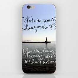 You Are Exactly Where You Should Be: Lighthouse iPhone Skin