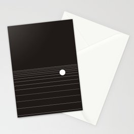 Calm water Lake Moon Minimal Stationery Cards