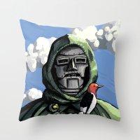 doom Throw Pillows featuring Doom by David Comito