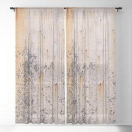 Abstract textures in old metal Sheer Curtain