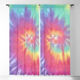 Faded Spiral Tie Dye Blackout Curtain
