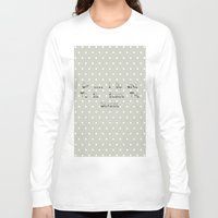 calendars Long Sleeve T-shirts featuring Oh .... i do like to be beside the seaside ~ polka dot ~ poster ~ typography ~ illistration by Shabby Design Studio