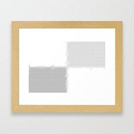 QUARTERS #1 (Grays & White) Framed Art Print