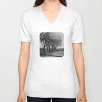 horses V-neck T-shirts featuring Horses by Julia Dávila-Lampe