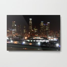 Bright Lights in the City of Angels. Metal Print